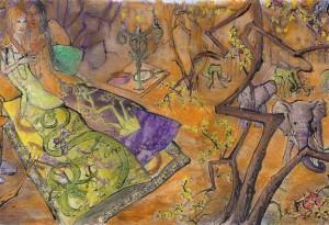 2009 - 63x35 - Pastel et encre de Chine