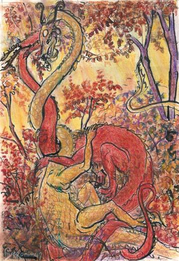 2004 — 26x38 — Pastel et encre de Chine