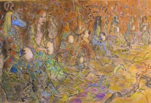 2010 - 65x38 - Pastel et encre de Chine
