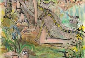 2009 - 32x42 - Pastel et encre de Chine