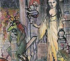 2004 - 24x38 - Pastel et encre de Chine