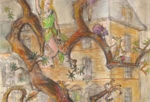 2009 - 30x48 - Pastel et encre de Chine