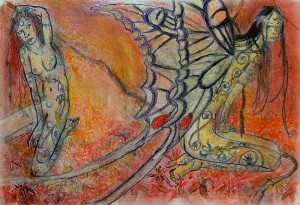 2006  - 38x28 - Pastel, encre de Chine et aquarelle