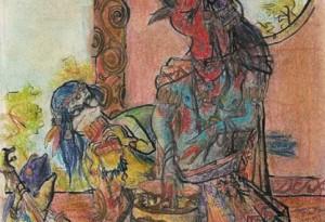 2004 - 27x36 - Pastel et encre de Chine