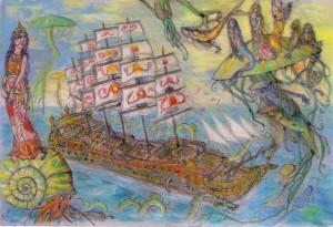 2008 - 64x48 - Pastel et encre de Chine