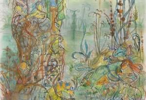 2011 - 48x63 - Pastel et encre de Chine