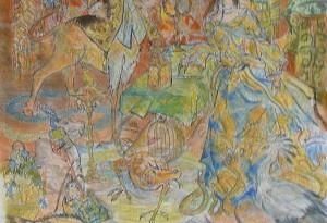 2010 - 48x62 - Pastel et encre de Chine