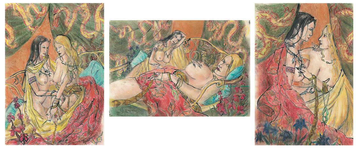 2006 - 28x41 / 41x28 / 28x41 - Pastel et encre de Chine