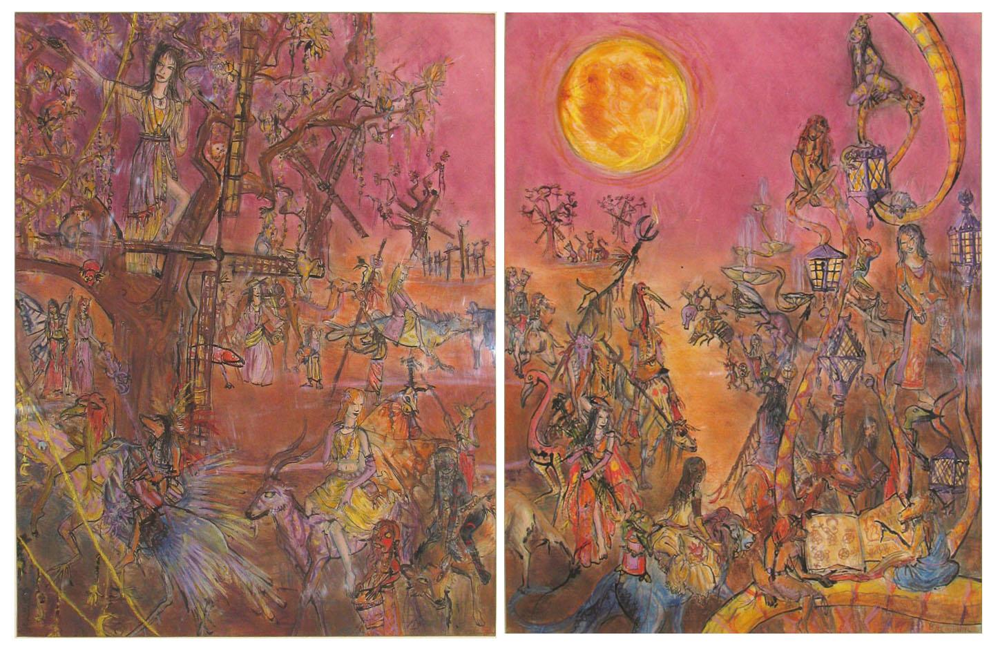 2008 - 50x65 / 50x65 - Pastel et encre de Chine