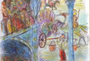 2012 - 25x65 - Pastel, fusain, pierre noire