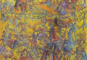2012 - 70x100 - Pastel et encre de Chines