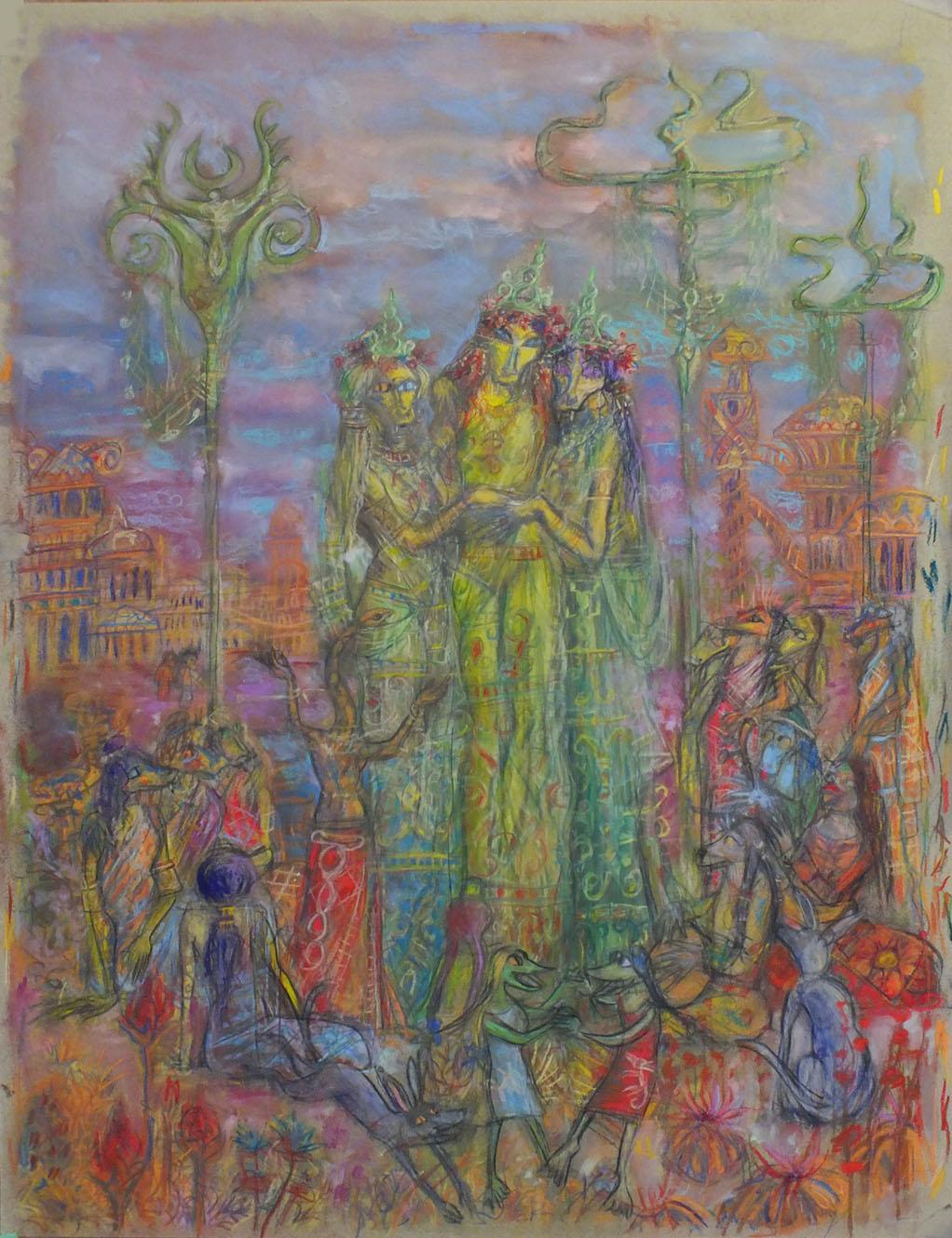 2013 - 50x65 - Pastel et fusain
