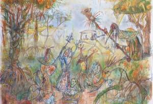 2014 - pastel et crayons - 65x50