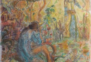 Rêverie et Passions - pastel et crayons - 50x65