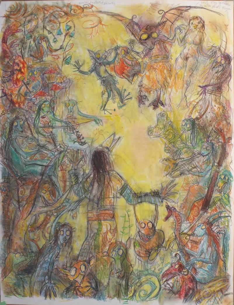 Songe d'une Nuit de Sabbat- pastel et crayons - 50x65
