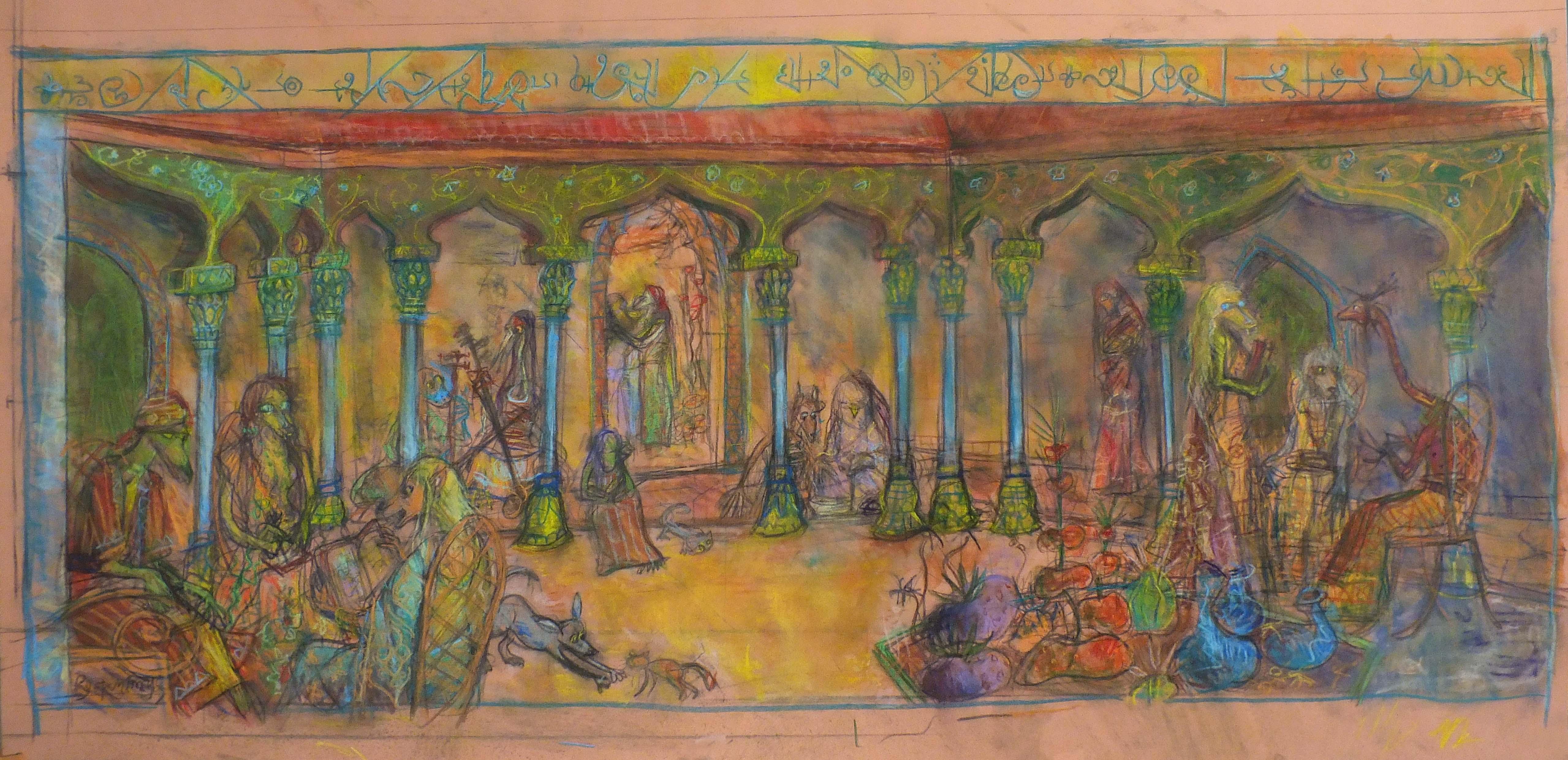 2014 - pastel et crayons - 100x48
