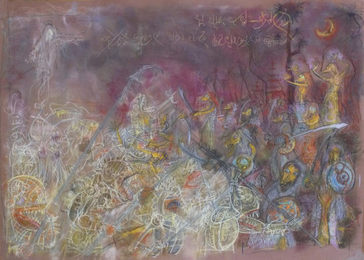 2015 - 70x50 - pastel et crayons