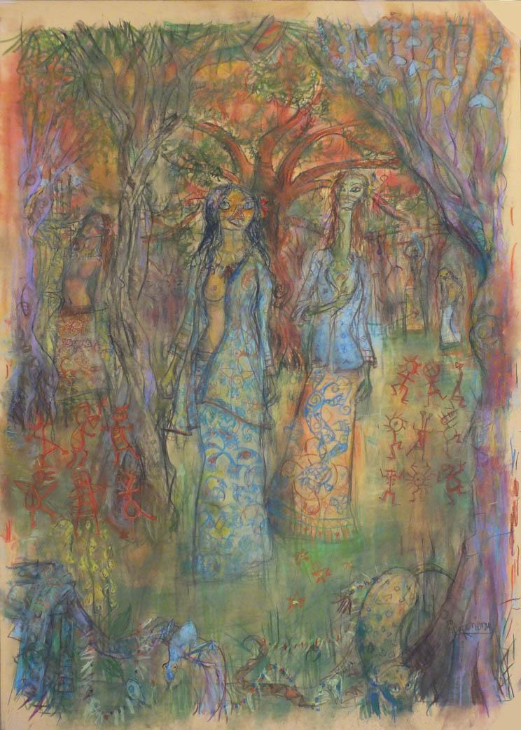 2015 - pastel et crayons - 50x70
