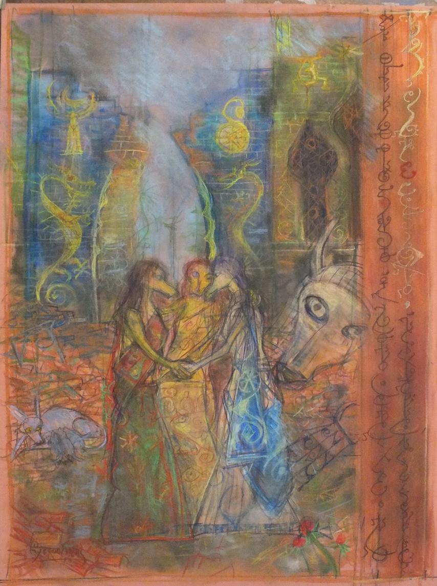 2015 - 47x63 - pastel et crayons