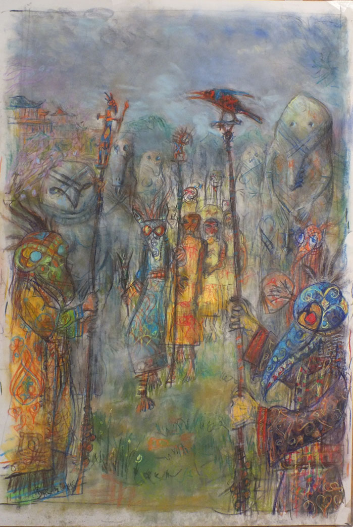 2015 - 46x70 - pastel et crayons