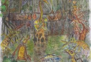 2015 - 40x65 - Pastel et crayons