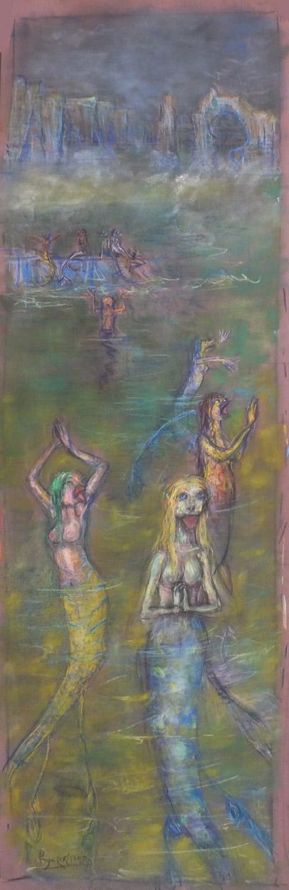 2015 - 32x100 - Pastel et crayons