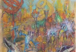 2020 - 37x70 - pastel et crayons