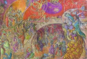 2011 - 100x70 - Pastel et encre de Chine