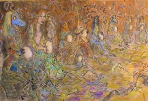 2010 - 65x38 - Pastel et encre de Chine