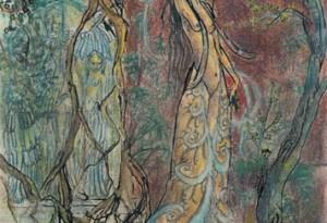 2006 - 28x38 - Pastel et encre de Chine