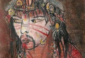 2004 - 19x27 - Pastel et encre de Chine