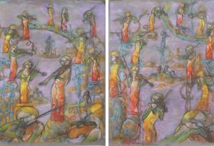 2012 — 50x65/50x65 — Pastel, fusain, pierre noire