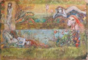 2015 - pastel et crayon - 100x70