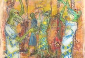 2015 - 43x70 - Pastel et crayons