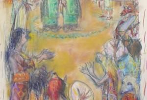 2016 - 33x70 - Pastels et crayons