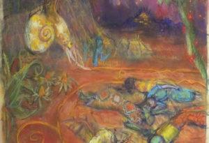 2021 - 50x56 - Pastel et crayons